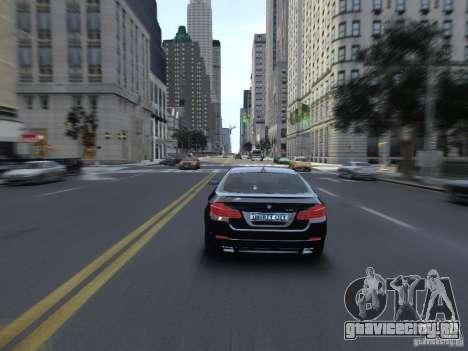 BMW 550i F10 для GTA 4 вид справа