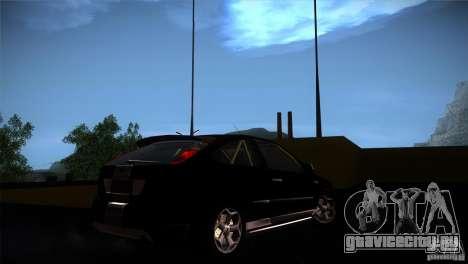 Ford Focus 2 Coupe для GTA San Andreas вид сзади