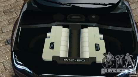 Audi A8 Limo v1.2 для GTA 4 вид сверху