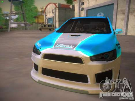 Mitsubishi Lancer Evo X Tunable для GTA San Andreas колёса