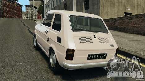 Fiat 126 Classic для GTA 4 вид сзади слева