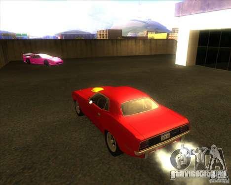 Plymouth Hemi Cuda для GTA San Andreas вид сзади слева