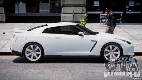 Nissan Skyline GT-R R35 для GTA 4 вид изнутри