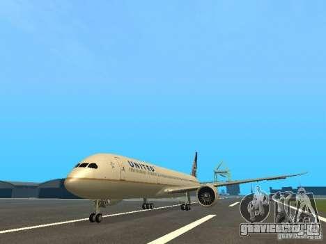 Boeing 787 Dreamliner United Airlines для GTA San Andreas