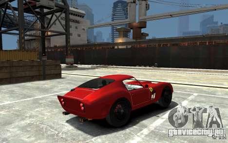 Ferrari 250 Le Mans для GTA 4 вид справа