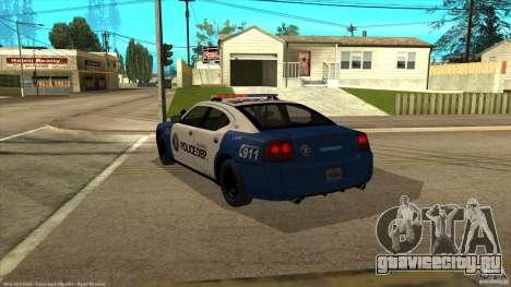 Dodge Charger Los-Santos Police для GTA San Andreas вид слева
