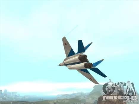 MiG-29 Стрижи для GTA San Andreas вид изнутри