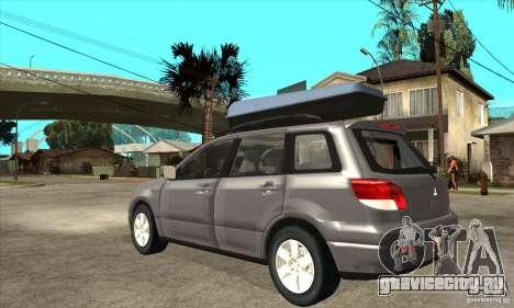 Mitsubishi Airtrek для GTA San Andreas вид сзади слева