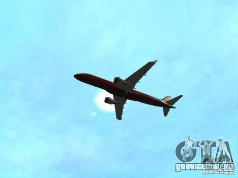 Embraer ERJ 190 Virgin Blue для GTA San Andreas вид изнутри