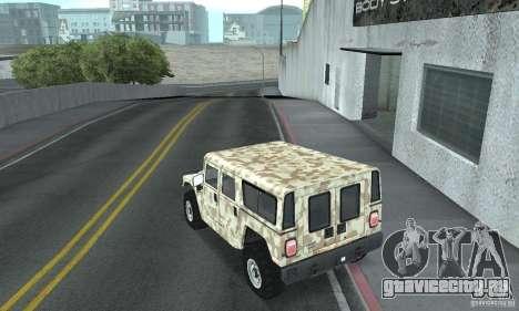 Hummer H1 для GTA San Andreas вид сверху