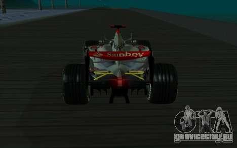 McLaren F1 для GTA San Andreas вид сзади слева