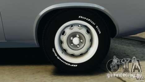 Dodge Challenger RT 1970 v2.0 для GTA 4 вид снизу