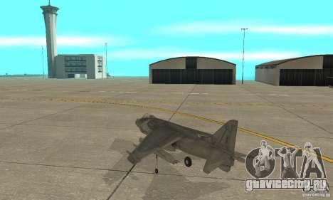 AV-8 Harrier для GTA San Andreas вид сзади слева