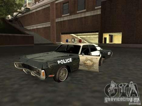 Dodge Polara Police 1971 для GTA San Andreas вид изнутри