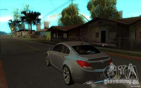 Opel Insignia 2011 для GTA San Andreas вид сзади слева
