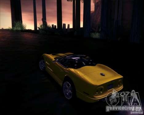 Shelby Series One 1998 для GTA San Andreas вид изнутри