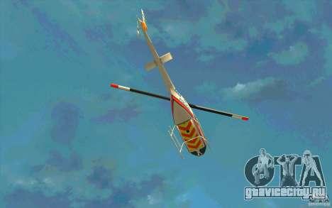 Bell 206 B Police texture2 для GTA San Andreas вид сбоку