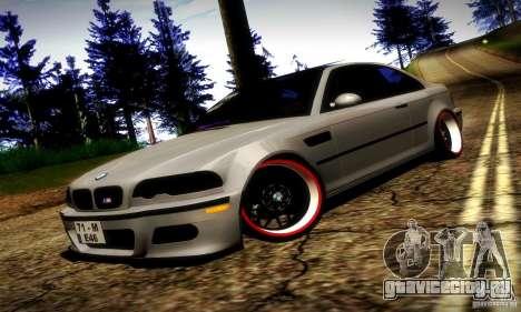 BMW M3 JDM Tuning для GTA San Andreas вид сверху