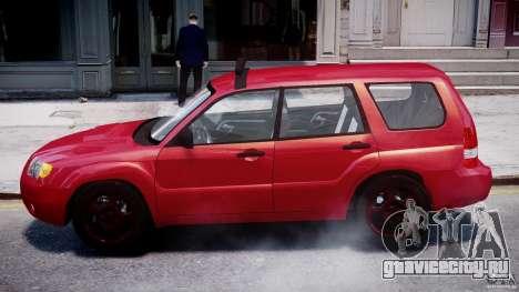 Subaru Forester v2.0 для GTA 4 вид сзади слева