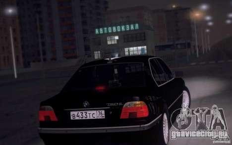 BMW 750i E38 2001 для GTA San Andreas вид сзади слева
