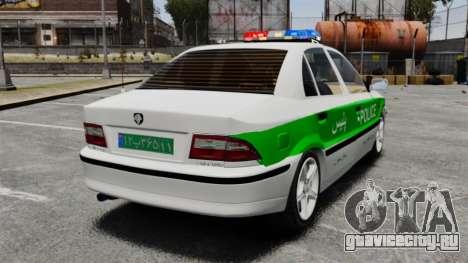 Iran Khodro Samand LX Police для GTA 4 вид сзади слева
