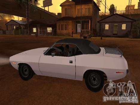 Plymouth Barracuda Rag Top 1970 для GTA San Andreas вид слева