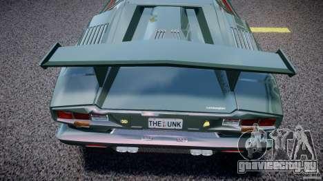 Lamborghini Countach v1.1 для GTA 4 вид сбоку