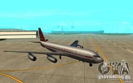 Qantas 707B для GTA San Andreas вид сзади слева
