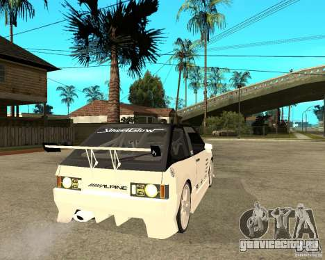 ВАЗ 2108 eXtreme для GTA San Andreas вид сзади слева