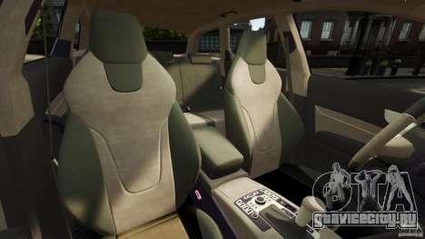 Audi A6 Avant Stanced 2012 v2.0 для GTA 4 вид изнутри