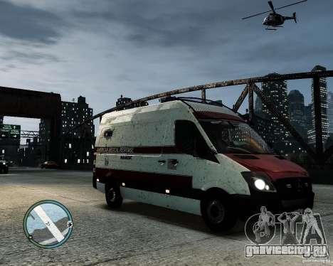 Mercedes Benz Sprinter American Medical Response для GTA 4 вид сзади слева