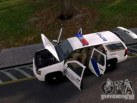 Chevrolet Tahoe Homeland Security для GTA 4 вид справа