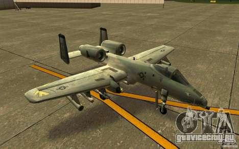 A-10 Warthog для GTA San Andreas вид слева