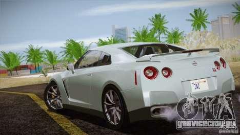 Nissan GTR Black Edition для GTA San Andreas вид сверху