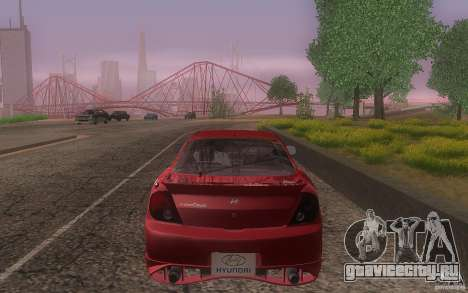 Hyundai Tiburon V6 Coupe tuning 2003 для GTA San Andreas вид сверху
