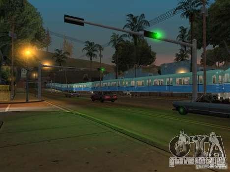 Метро типа Е для GTA San Andreas вид сзади