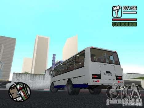 ПАЗ 4234 v1 для GTA San Andreas вид изнутри