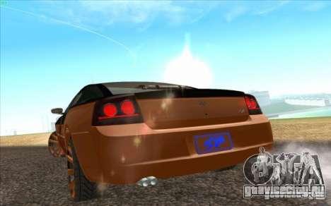 Dodge Charger SRT 8 для GTA San Andreas вид сзади