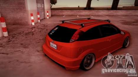Ford Focus SVT Clean для GTA San Andreas вид снизу