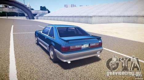 Ford Mustang GT 1993 Rims 1 для GTA 4 вид сзади слева