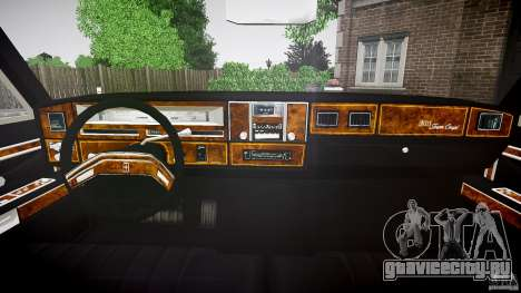 Lincoln Continental Town Coupe v1.0 1979 для GTA 4 вид сзади