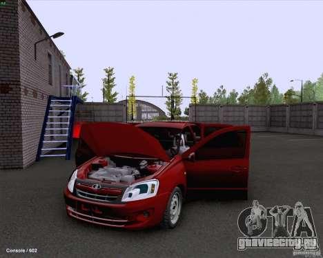 ВАЗ 2190 Сток для GTA San Andreas вид изнутри