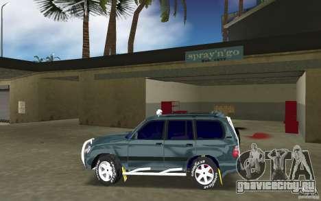 Toyota Land Cruiser 100 для GTA Vice City вид слева