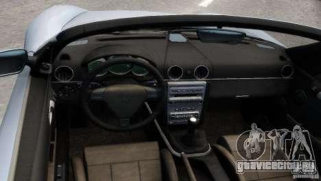 RUF RK Spyder 2006 [EPM] для GTA 4 вид изнутри