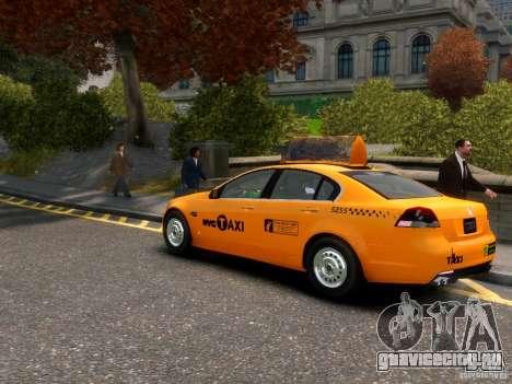 Holden NYC Taxi для GTA 4 вид сзади слева
