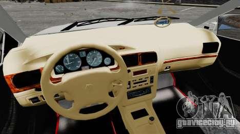 Iran Khodro Samand LX Police для GTA 4 вид сзади