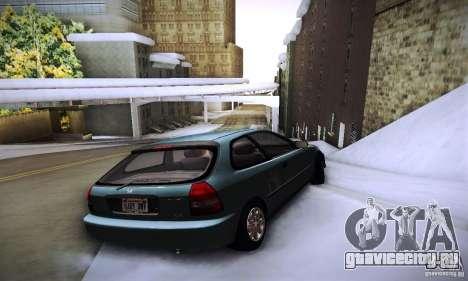 Honda Civic EK9 для GTA San Andreas вид сзади слева