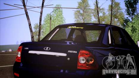 ВАЗ 2170 Lada Priora для GTA San Andreas вид сзади слева