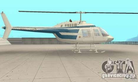Bell 206B JetRanger II для GTA San Andreas вид сзади слева
