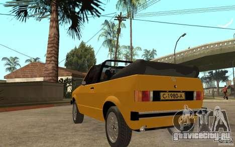 Volkswagen Golf MK1 Cabrio для GTA San Andreas вид сзади слева